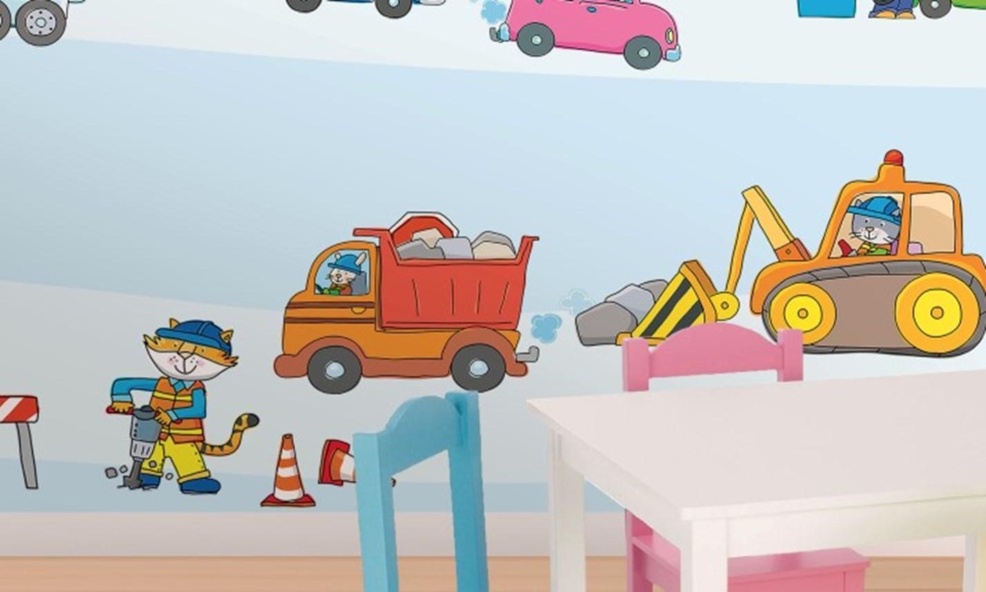 Stickers murali bambini cameretta macchine e motori - Decorazioni camerette bambini immagini ...